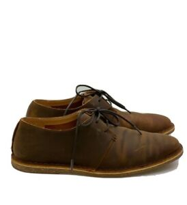 *NEW in Box* CLARKS Brown Baltimore Lace Beeswax Leather Shoes UK6.5