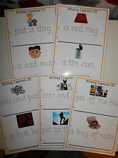Phase 2 Phonics - Writing Captions - 5X A4 Mats - EYFS/SEN/KS1