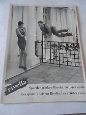 Publicité 1993  Rivella sportler trinken Les sportifs boivent Rivella  AD