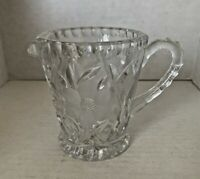 Daisy Pattern Pressed Glass Creamer