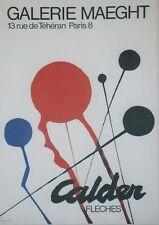 """""""CALDER : FLECHES / EXPO GALERIE MAEGHT 1968"""" Affiche originale entoilée"""