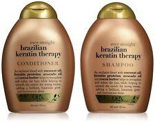 OGX Brazilian Keratin Smooth Ever Straightening Shampoo &Conditioner13oz/ 385 ml