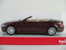 Herpa 023245 BMW 6er Cabrio (2004-2007) in schwarzrot 1:87/H0 NEU/OVP