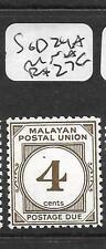 MALAYA MPU  (P2503B)  POSTAGE DUE  4C  SG D24A  MNH