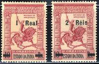 1950 PORTUGUESE INDIA SC #492-93 CD35🐎Overprint 2-Stamp Set MNH OG FILED