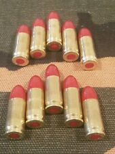 9MM LUGER SNAP CAPS  SET OF 10 (RED+BRASS) REAL WEIGHT!!!