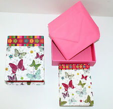NEW Box of IZZY b Greeting/Thank You Note Cards/Envelopes, 24 butterflies