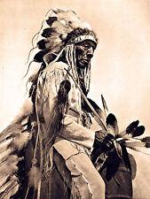 "1930 NATIVE Cheyenne AMERICAN INDIAN, western, antique, Horse, photo 20""x14"""