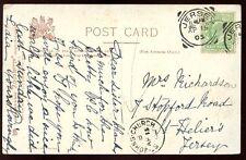 Islas del Canal Jersey St John's Iglesia Fino Matasellos en 1905 Postal
