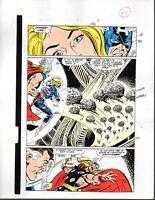 Marvel Avengers 301 color guide art page 15: Captain America/Thor/Fantastic Four