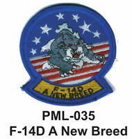 """F-14D A NEW BREED- Embroidered Military Large Patch, 4"""""""