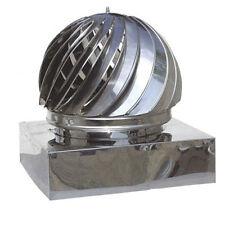 Copertura camino 450 x 450 mm, acciaio inox, ruotabile con camino di trafilatura