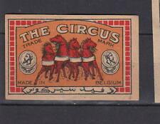 Ancienne  étiquette   allumettes  Belgique   AZ4100   Circus   Cheval 48