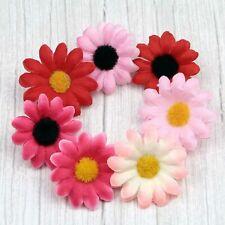 15/100Pcs Artificial Silk Flower Gerbera Small Daisy Fake Flower Head DIY Craft