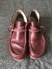 Clarks Men's Shoes Burgundy Sz 10.5M Distressed Leather