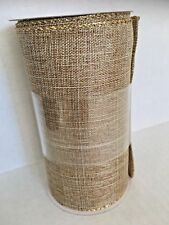 Celebrate It Christmas Ribbon Extra Wide Gold 5 1/2 inch 6 Yd Roll New