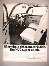 Volkswagen VW Beetle Bug PRINT AD - 1972 ~ 1973 model ~ Super Beetle