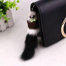 Faux Fox Tail Fur Ball Tassel Key Ring Pom Key Chain Plush Handbag Holder