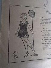 """PATRON ORIGINAL POUR LA POUPEE LISETTE  """"AUX BAINS DE MER 1924"""
