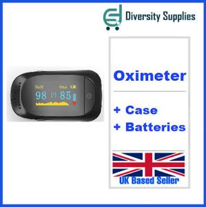 Fingertip Pulse Oximeter Blood Oxygen Saturation SpO2 Finger PR Monitor UK - CE