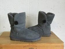 GREY SUEDE FLEECE LINED BOOTS SIZE 3.5 /36.5 BY UGG  WELL USED CONDITION