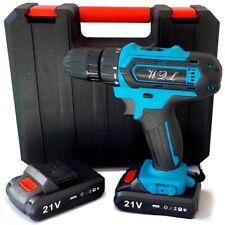 trapano avvitatore a batteria litio 21V doppia batteria + valigia