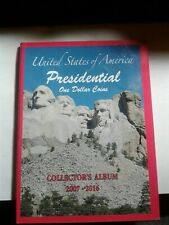 Presidential coin booklet with coins of presidents as showned.