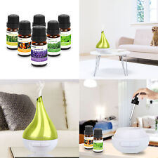 Ultrasonic Aroma Diffuser W/ 6 Essential Aromatherapy Oil Gift Set Natural