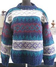 Vintage-CHUNKY SWEATER--Purple Mountain Sweater Co--100% Wool--Crewneck--Size L