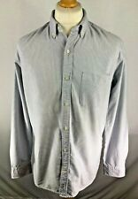 Mens Tommy Hilfiger Blue White Striped Collared Long Sleeve Shirt Size Medium