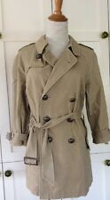 Free People RARE Military Jacket M Medium Khaki Cotton Plaid Lined Trench Coat