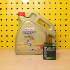 DUCATI 600-1000ccm oelwechselset Filtro de aceite HIFLO Castrol Power 1 15w50
