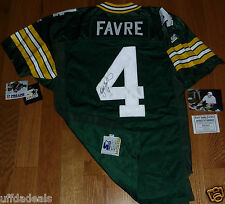 BRETT FAVRE 4 AUTOGRAPHED STARTER AUTHENTIC PRO LINE GREEN BAY PACKERS JERSEY