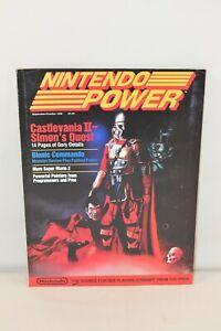 1988 Nintendo Power Magazine #2 NES Castlevania II Simons Quest w/ Poster Mailer