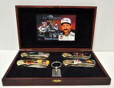 In Memory Of DALE EARNHARDT #3 Wooden Box Set 4 KNIVES & KEY CHAIN MIB NASCAR
