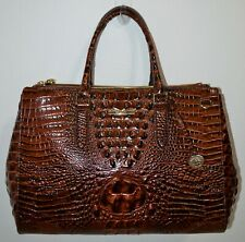 NWT Brahmin Pecan Melbourne Textured Leather Blake Travel Carryall Bag Purse