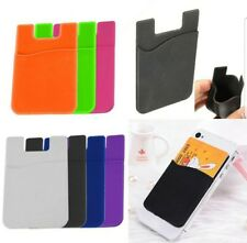 Adhesive Sticker Back Cover Card Holder Pouch For Cellphone