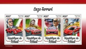 Chad Cars Stamps 2020 MNH Enzo Ferrari 3355 308 GTB Famous People 4v M/S