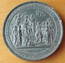 British 1838 Queen Victoria 64mm Coronation Medal Medallion Near UNC Grade Rare