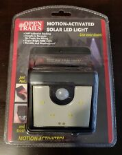 Open Trails Motion Activated Solar Led Light Brand New (Bnib)