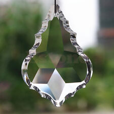 10 Crystal Chandelier Rainbow Prisms Hanging Drops Maple Leaf Decor Pendant 38mm