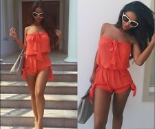 2016 New  Women Lace Playsuit Party Evening Summer Ladies Dress Shorts Jumpsuit