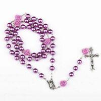 Chapelet 8mm Perles Rondes Chapelet Catholique Avec Charme Sol Saint Religieux