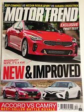 Motor Trend Exclusive First Test December 2017 New & Improved Accord vs Camry