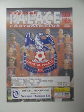 More details for crystal palace v swindon town | 1995/1996 | reserves | 20 mar 1996 | uk freepost