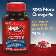 Schiff Mega Red High Concentration 750 mg Omega-3 Krill Oil 80 Softgels New