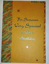 1 Birthday Greeting Card/Envelope Someone Special Wonderful Love Happy Friend