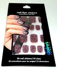 CLAIRE'S Cosmetics Nail Flair Stickers  20 Nail Stickers NIP