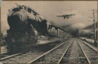 VINTAGE BROADWAY LIMITED TRAIN from NEW YORK to CHICAGO POSTCARD - UNUSED