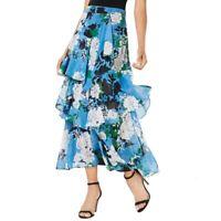 INC NEW Women's Tiered Floral-print Side Zip Maxi Skirt TEDO